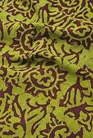 インドのバティック染め布 〔長