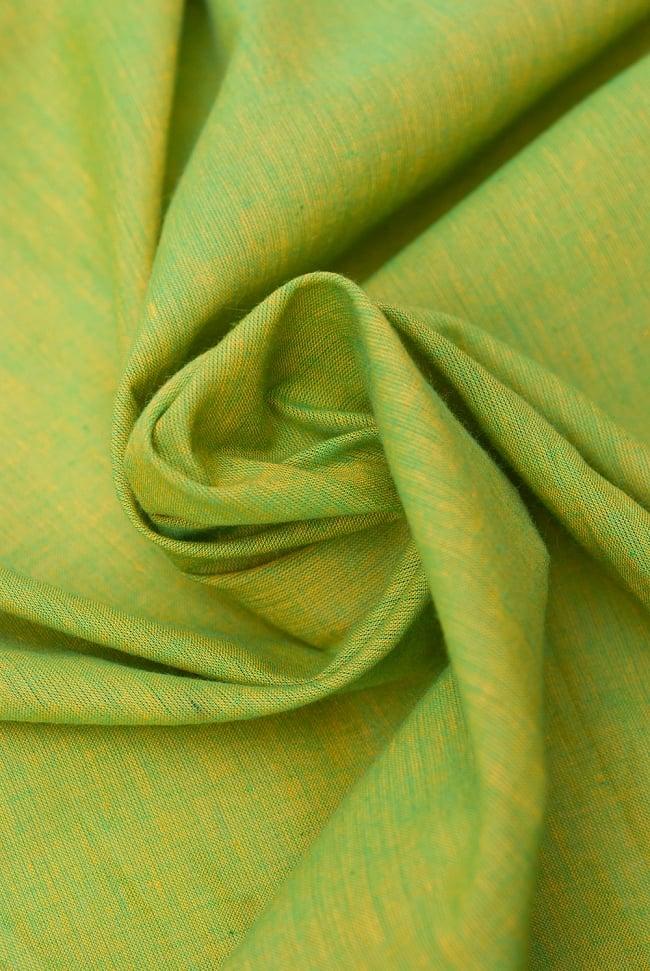 〔1m切り売り〕インドのパステルカラークロス - 緑&黄色 〔幅約115cm〕 5 - ドレープを作ってみました。