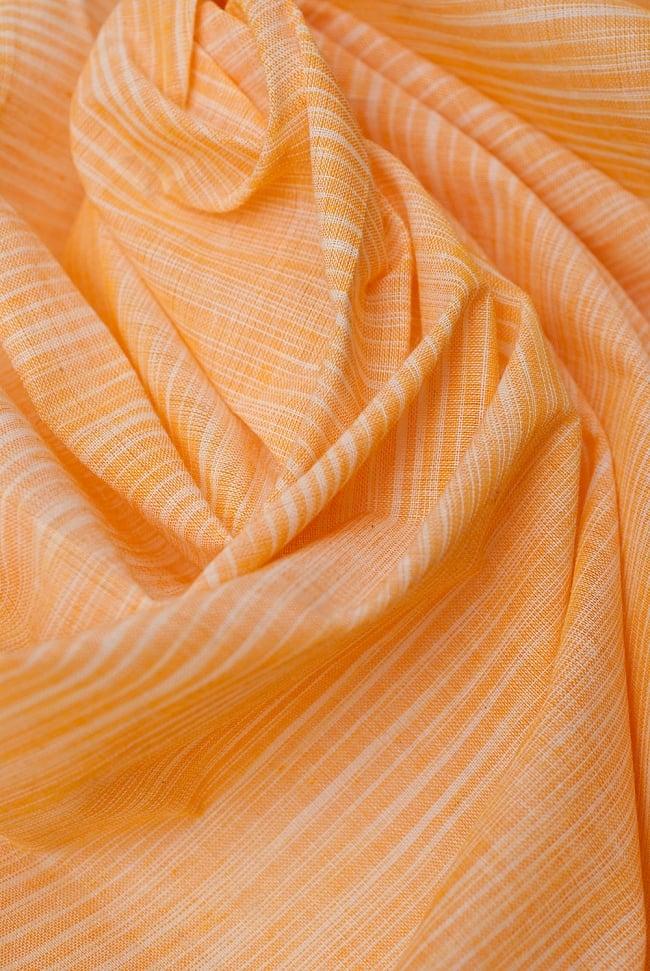 〔1m切り売り〕インドのパステルカラークロス - パステルオレンジ 〔幅約110cm〕 5 - ドレープを作ってみました。