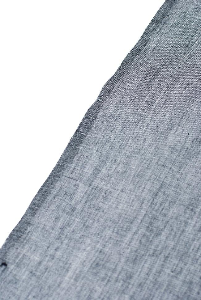 〔1m切り売り〕インドのシンプルコットン布  ライトグレー〔幅約113cm〕の写真3 - 端の部分の処理です。
