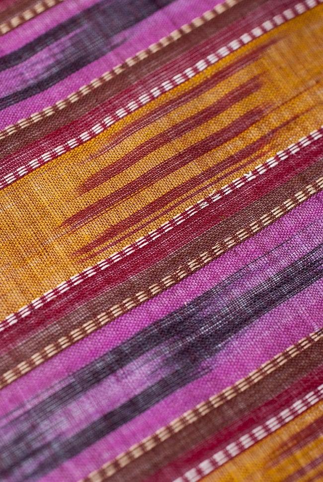 〔1m切り売り〕インドの絣織り布 〔幅約111cm〕 2 - 生地を近くからみてみました。