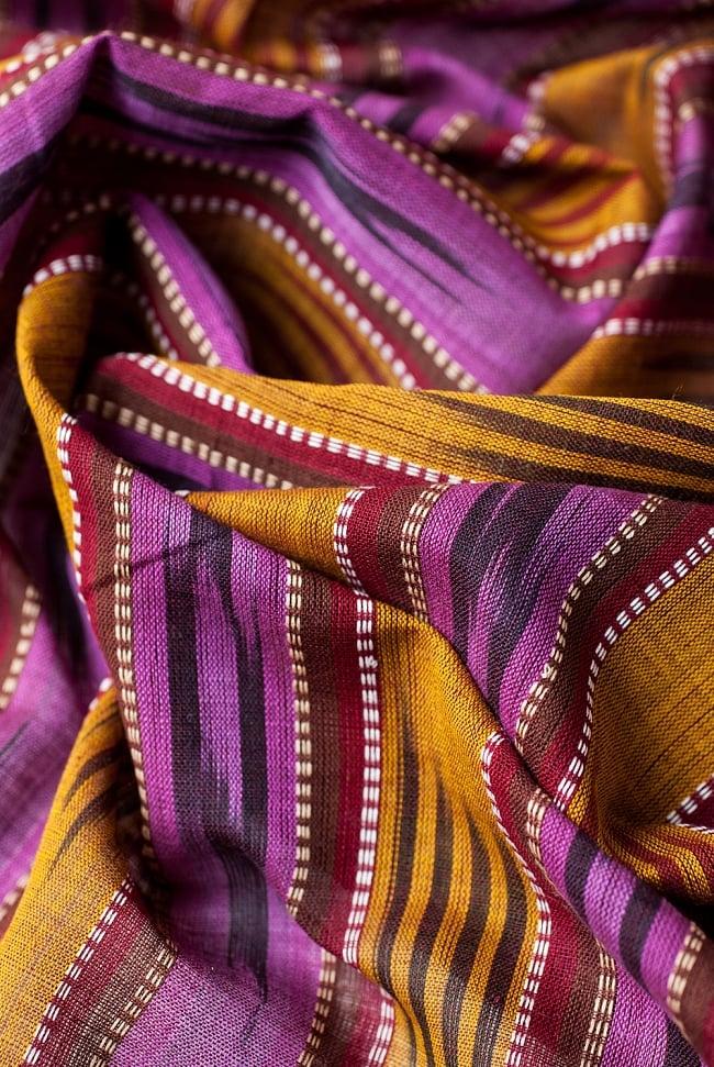 〔1m切り売り〕インドの絣織り布 〔幅約111cm〕 4 - 陰影をつけるととても素敵な色合いですね。