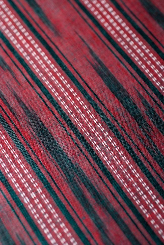 〔1m切り売り〕インドの絣織り布 〔幅約111cm〕の写真2 - 生地を近くからみてみました。