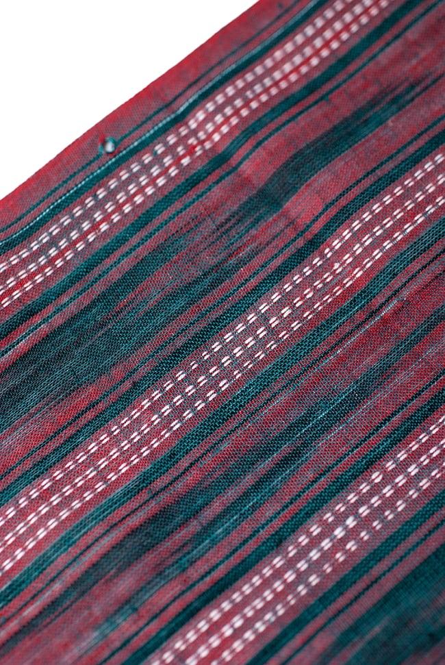 〔1m切り売り〕インドの絣織り布 〔幅約111cm〕の写真3 - 端の部分の処理です。