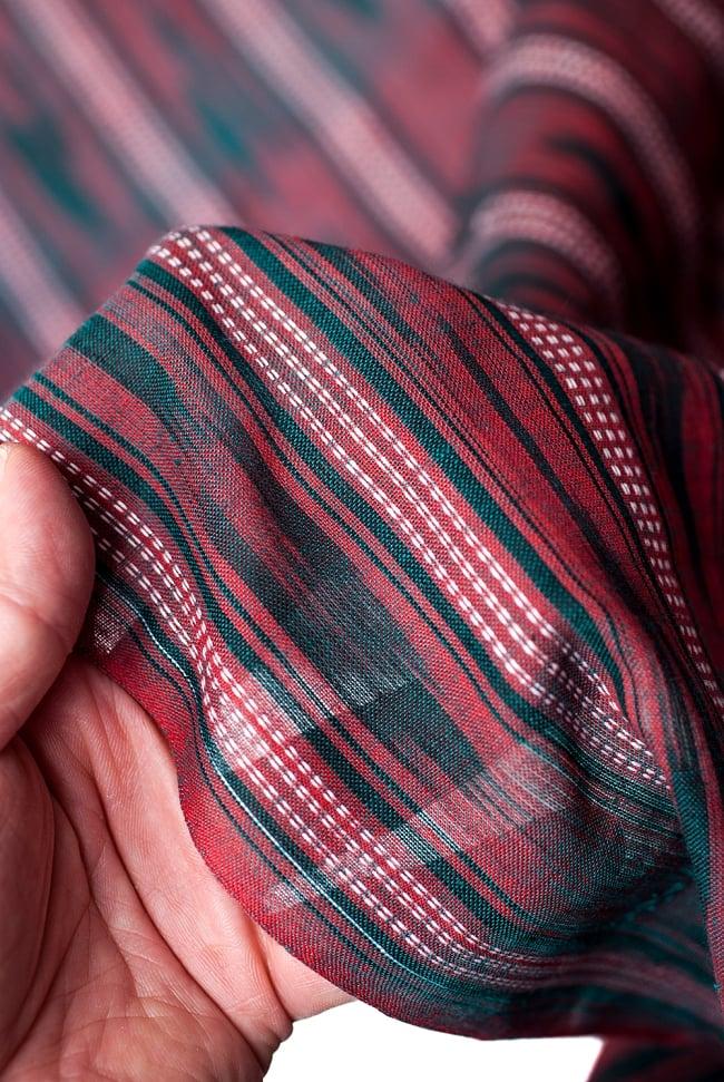 〔1m切り売り〕インドの絣織り布 〔幅約111cm〕の写真5 - さまざまな手芸へ。想像が広がる布です。
