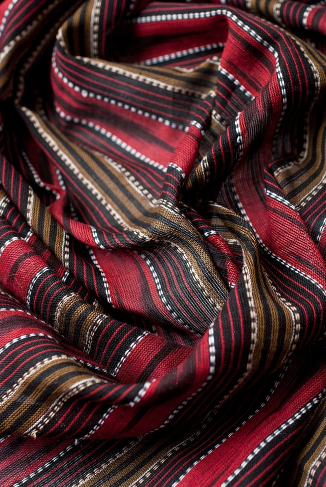 〔1m切り売り〕インドの絣織り布 〔幅約112cm〕 4 - 陰影をつけるととても素敵な色合いですね。