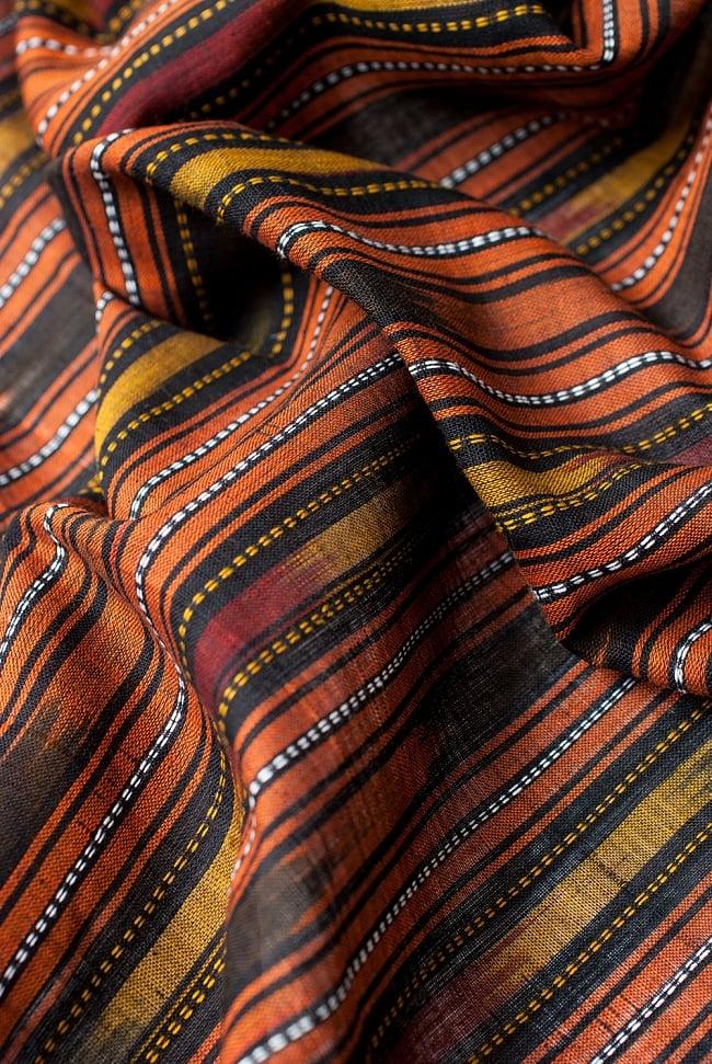 〔1m切り売り〕インドの絣織り布 〔幅約114cm〕 4 - 陰影をつけるととても素敵な色合いですね。