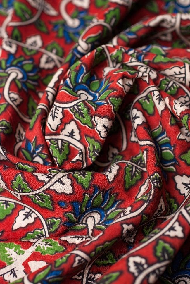 〔1m切り売り〕南インドの花柄コットン布〔幅約119cm〕の写真4 - 陰影をつけるととても素敵な色合いですね。