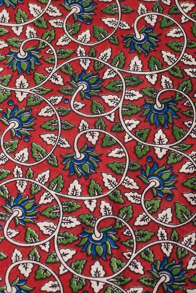 〔1m切り売り〕南インドの花柄コットン布〔幅約119cm〕の写真