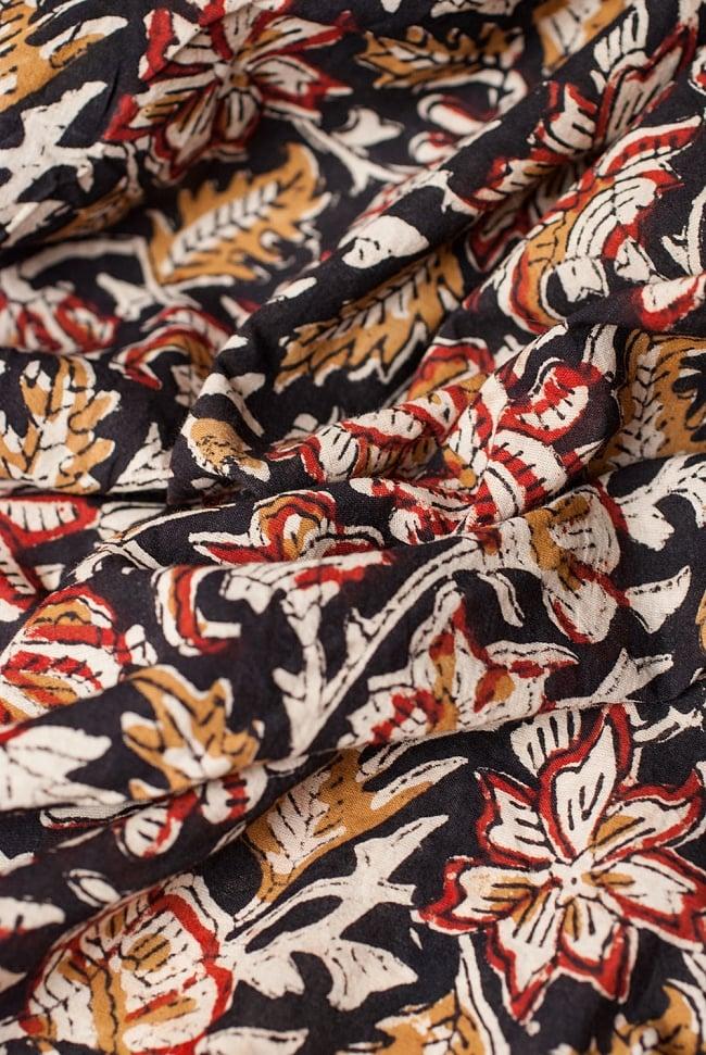〔1m切り売り〕南インドの花柄コットン布〔幅約113cm〕 4 - 陰影をつけるととても素敵な色合いですね。
