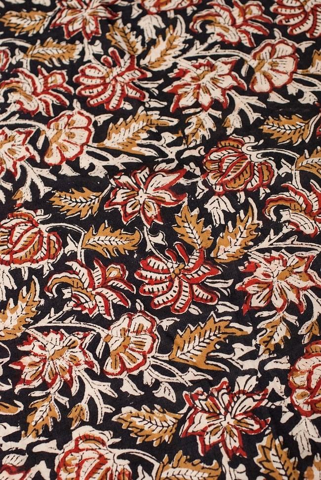 〔1m切り売り〕南インドの花柄コットン布〔幅約113cm〕の写真