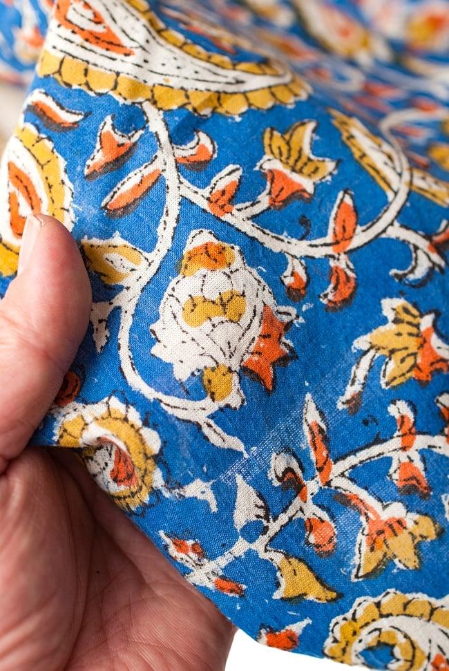 〔1m切り売り〕南インドの花柄コットン布〔幅約112cm〕の写真5 - さまざまな手芸へ。想像が広がる布です。