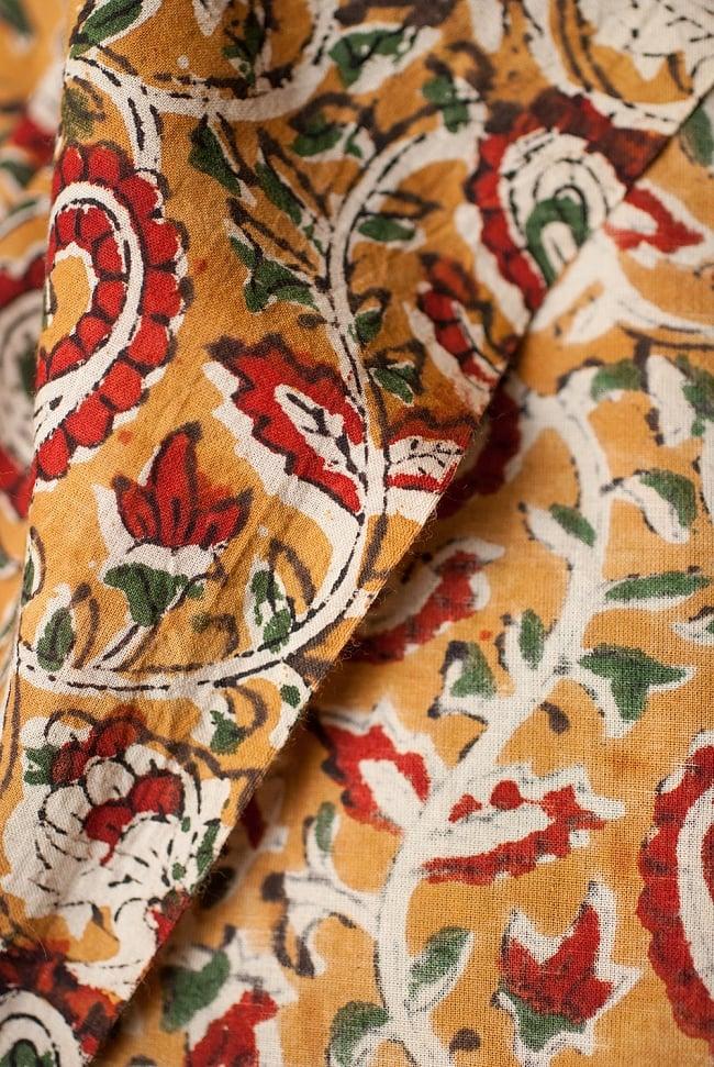 〔1m切り売り〕南インドの花柄コットン布〔幅約112cm〕の写真3 - 端の部分の処理です。