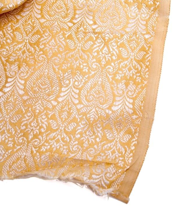 〔1m切り売り〕インドの伝統模様布〔110cm〕 - ゴールドの写真4 - フチの写真です