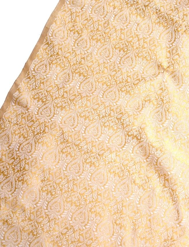 〔1m切り売り〕インドの伝統模様布〔110cm〕 - ゴールドの写真