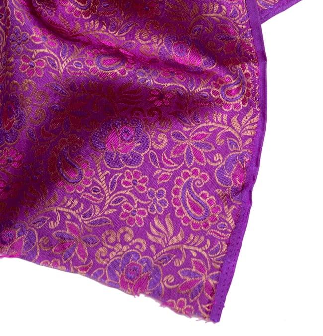 〔1m切り売り〕インドの伝統模様布〔114cm〕 - 赤紫の写真4 - フチの写真です