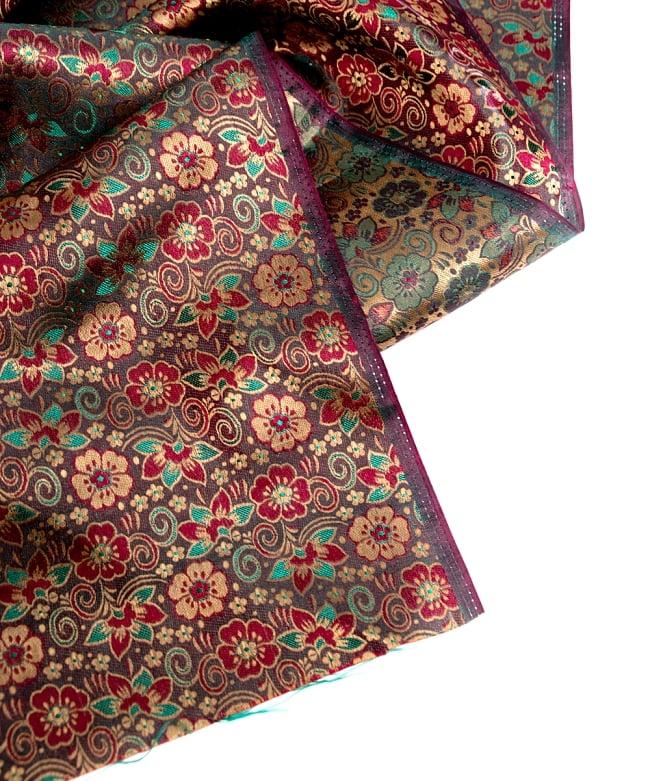〔1m切り売り〕インドの伝統模様布〔114cm〕 - 焦げ茶の写真4 - フチの写真です