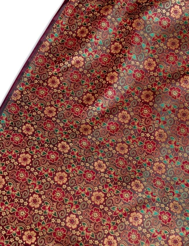 〔1m切り売り〕インドの伝統模様布〔114cm〕 - 焦げ茶の写真
