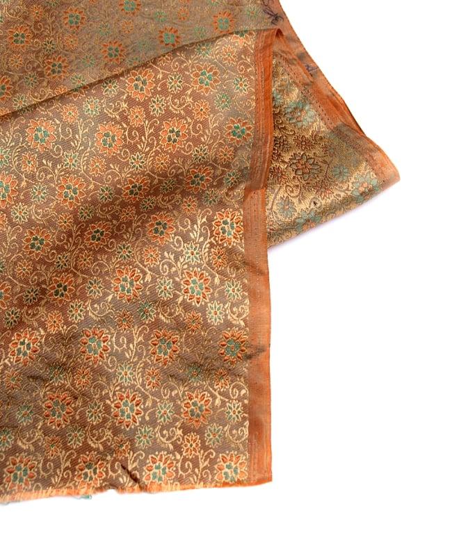 〔1m切り売り〕インドの伝統模様布〔115cm〕 - 茶色の写真4 - フチの写真です