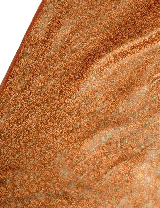 〔1m切り売り〕インドの伝統模様布〔115cm〕 - 茶色の写真