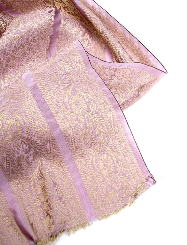 〔1m切り売り〕インドの伝統模様布〔102cm〕 - 薄ピンク系 4 - フチの写真です