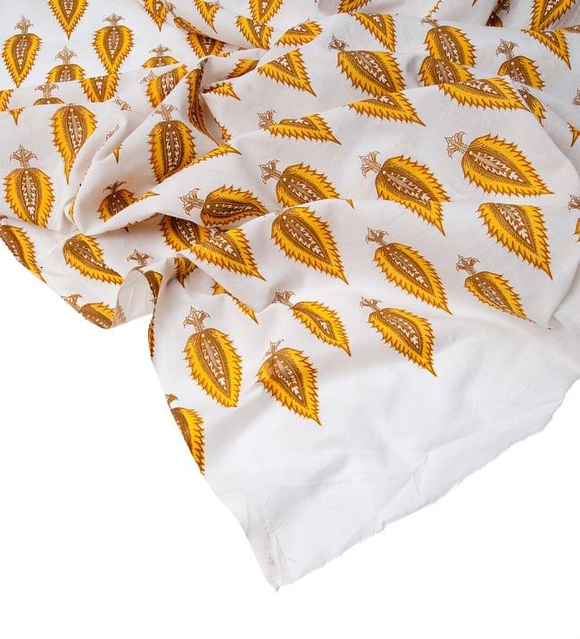 〔1m切り売り〕インドの伝統模様 セリグラフィープリント布〔110cm〕の写真5 - フチの写真です