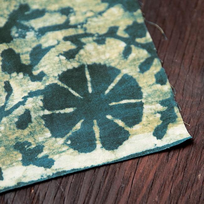 〔80cm切り売り〕インディゴとナスパルの伝統泥染め布 -  更紗柄〔幅約111cm〕 5 - 縁はこのようになっております