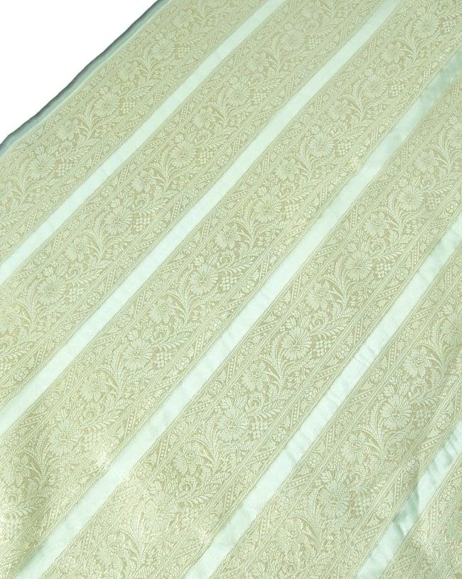 〔1m切り売り〕インドの伝統模様布〔105cm〕 - 薄緑系の写真