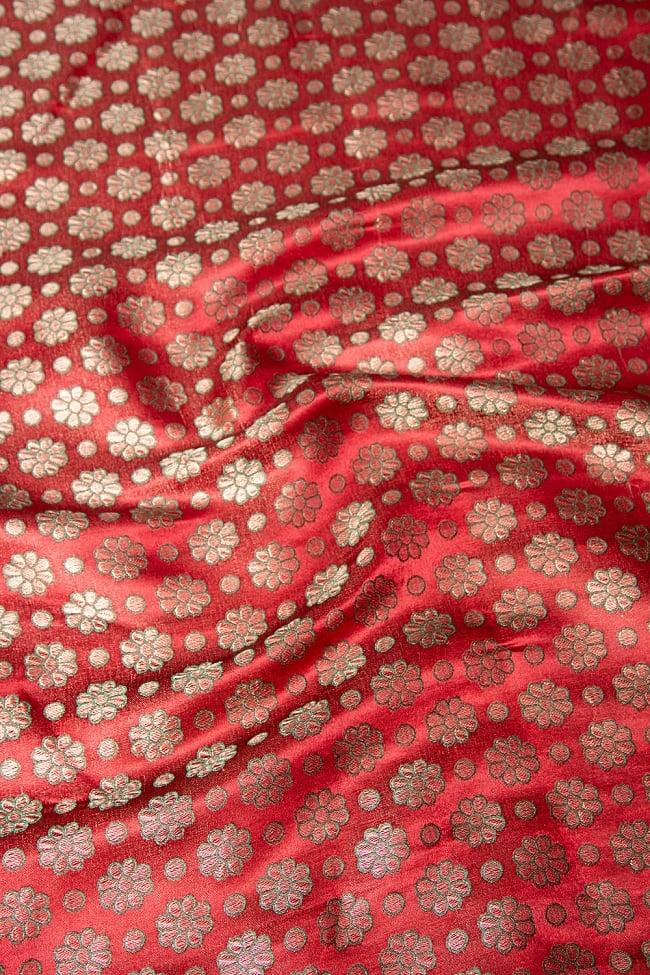 〔1m切り売り〕インドの伝統模様布 パープル・ピンク&フラワー〔幅約115cm〕 2 - 柄の広がりを見てみました。
