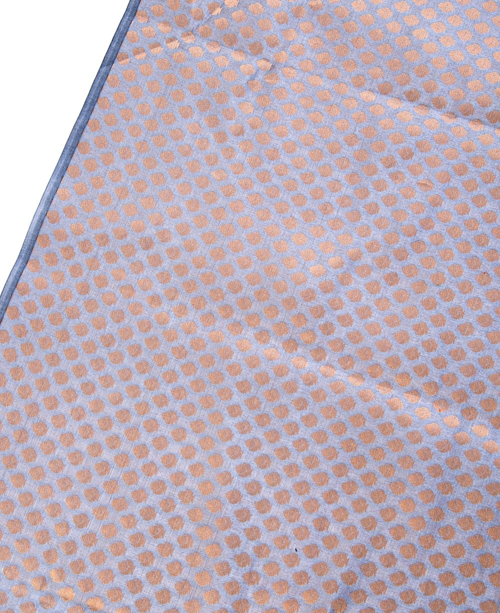 〔1m切り売り〕インドの伝統模様布〔幅約108cm〕 - グレー 3 - 拡大写真です。独特な雰囲気があります。