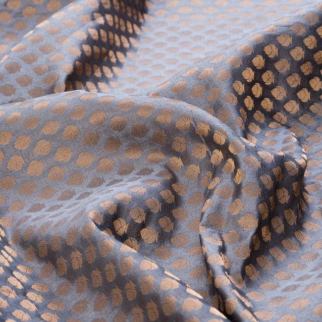 〔1m切り売り〕インドの伝統模様布〔幅約108cm〕 - グレー 1