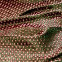 〔1m切り売り〕インドの伝統模様布〔幅約111cm〕 - グリーンの商品写真