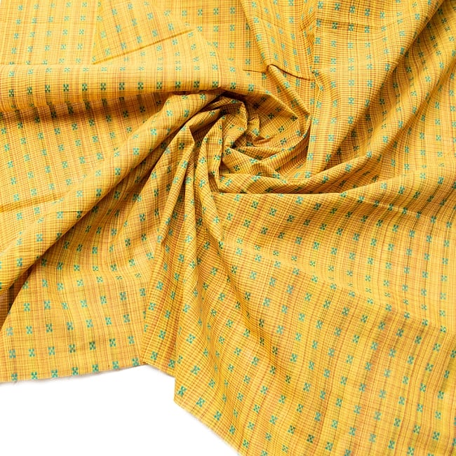〔1m切り売り〕インドの伝統模様布 - 幅約112cmの写真