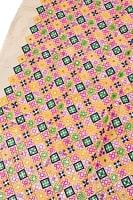 〔1m切り売り〕ラジャスタンの刺繍布〔108cm〕 - シャンパンゴールド