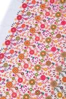 〔1m切り売り〕ラジャスタンの刺繍布〔109cm〕 - ホワイトの商品写真