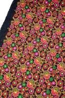 〔1m切り売り〕ラジャスタンの刺繍布〔109cm〕 - ブラック