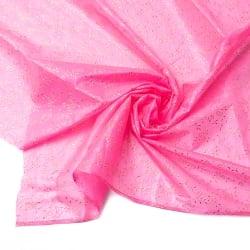 〔1m切り売り〕インドの薄レース布 - 幅約100cm
