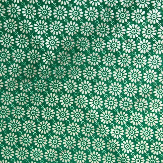 〔1m切り売り〕インドの伝統模様布 - 幅約104cm 2 - 生地を近くからみてみました。