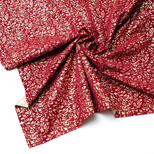 〔1m切り売り〕インドの伝統模様布 - 幅約104cmの写真