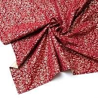 〔1m切り売り〕インドの伝統模様布 - 幅約104cm