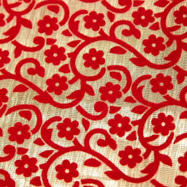 〔1m切り売り〕インドの伝統模様布 - 幅約104cm 3 - 接写してみました。