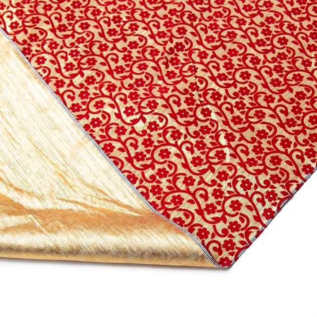 〔1m切り売り〕インドの伝統模様布 - 幅約104cm 6 - 裏面はこのようになっています。
