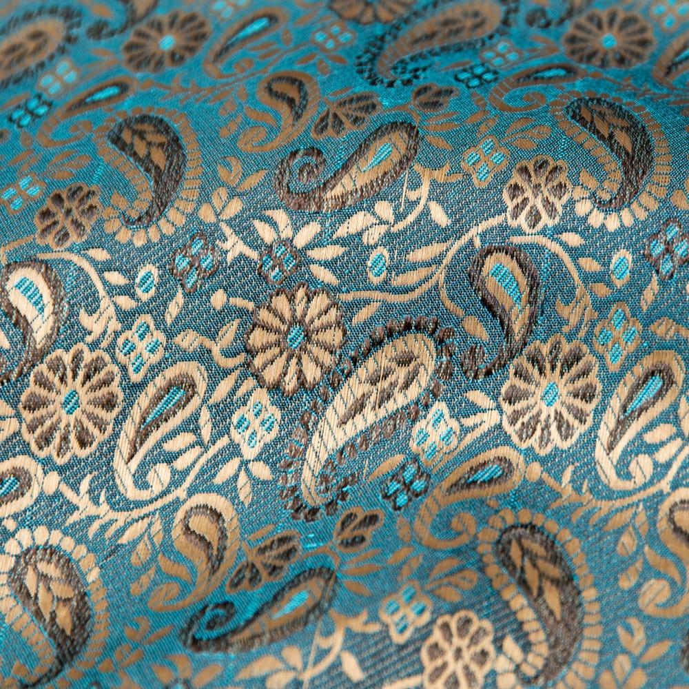 〔1m切り売り〕インドの伝統模様布〔幅約110cm〕 3 - 拡大写真です。独特な雰囲気があります。