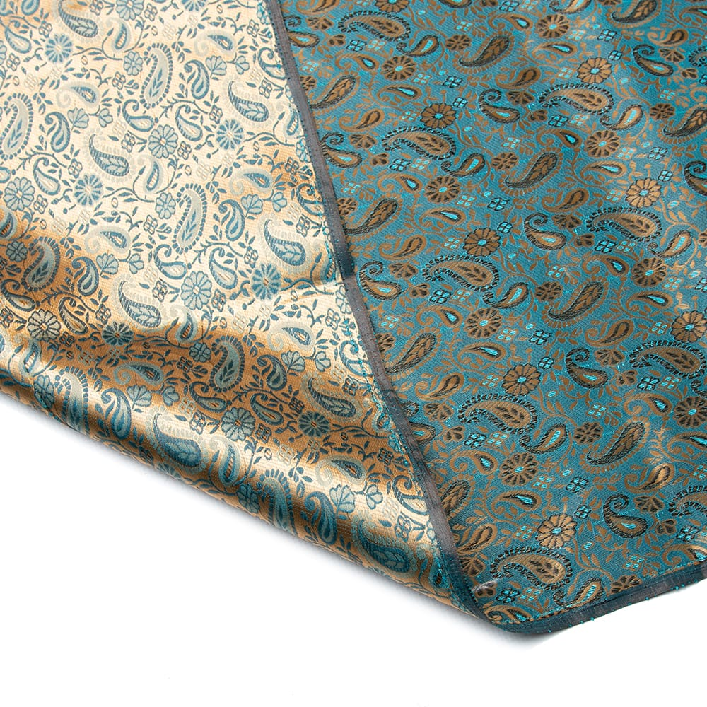 〔1m切り売り〕インドの伝統模様布〔幅約110cm〕 6 - 生地の拡大写真です