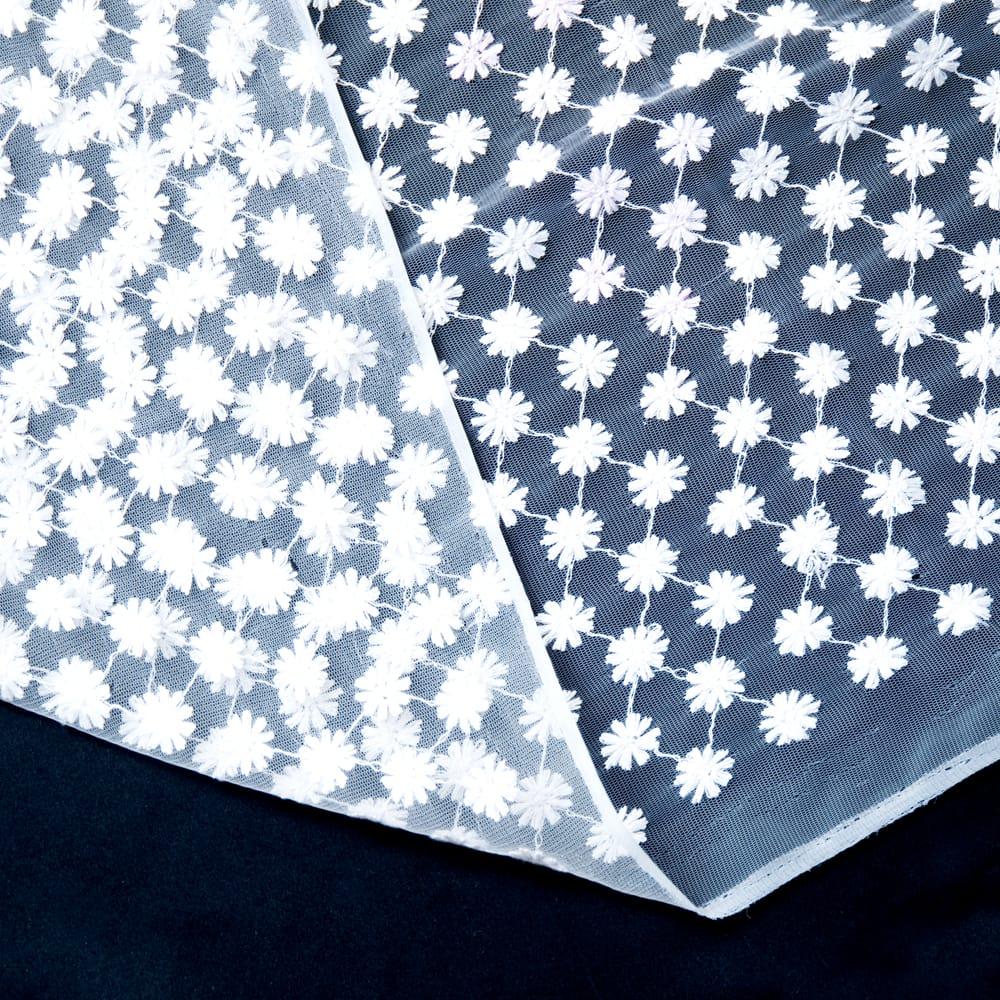 〔1m切り売り〕伝統模様刺繍のメッシュ生地布〔106cm〕 6 - 裏面はこのようになっています。