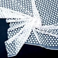 [インド品質]〔1m切り売り〕伝統模様刺繍のメッシュ生地布〔106cm〕