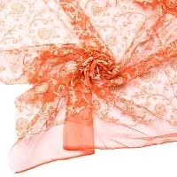 〔1m切り売り〕伝統模様刺繍のメッシュ生地布110cm