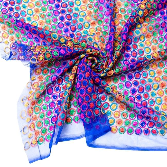 〔1m切り売り〕伝統模様刺繍のメッシュ生地布〔幅約108cm〕 1