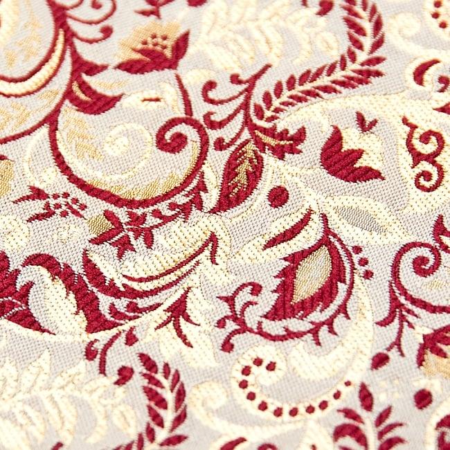 〔1m切り売り〕インドの伝統模様布〔幅約152cm〕 3 - 拡大写真です。独特な雰囲気があります。