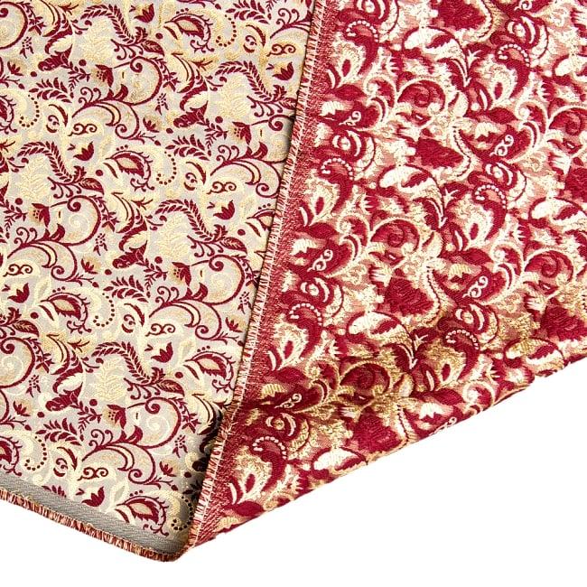 〔1m切り売り〕インドの伝統模様布〔幅約152cm〕 6 - 裏面lの様子です。